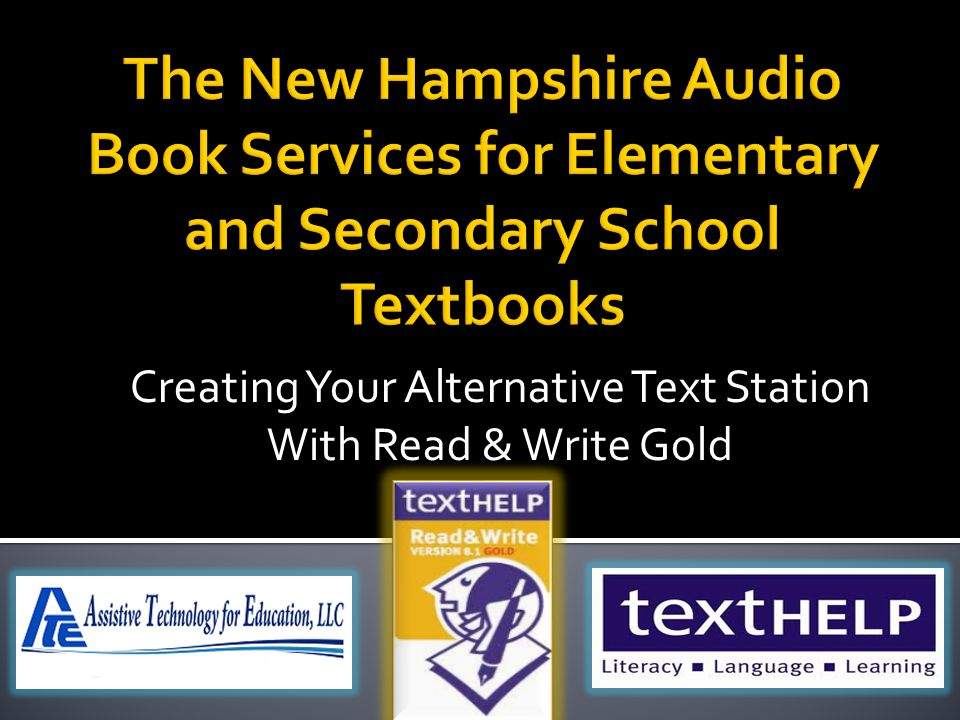Creating Your Alternative Text Station With Read & Write Gold