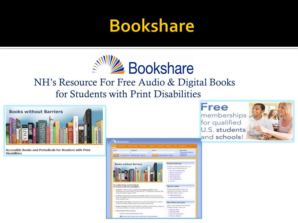 NH's Resource For Free Audio & Digital Books for Students with Print Disabilities