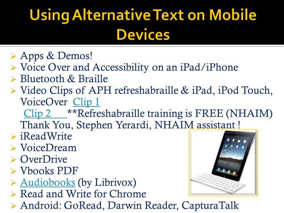 Apps & Demos.