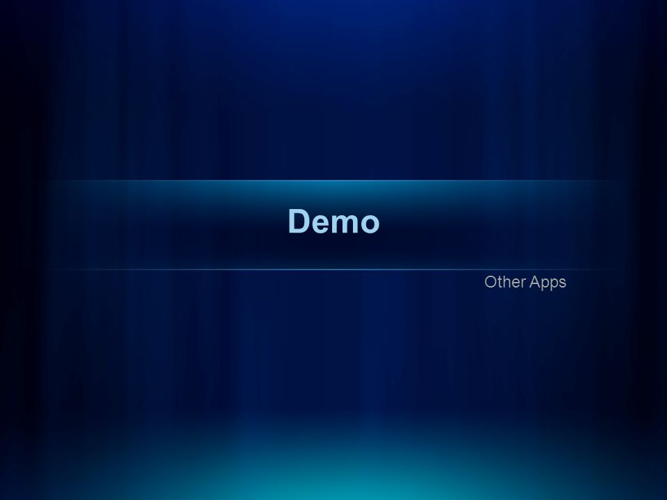 Demo Other Apps