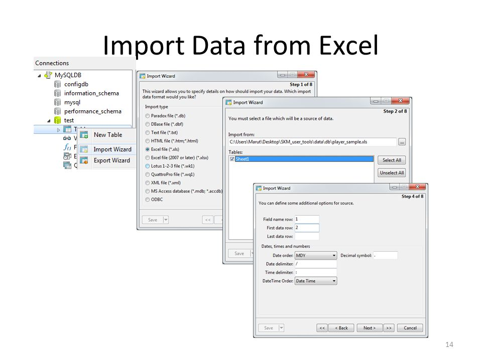 Import Data from Excel 14