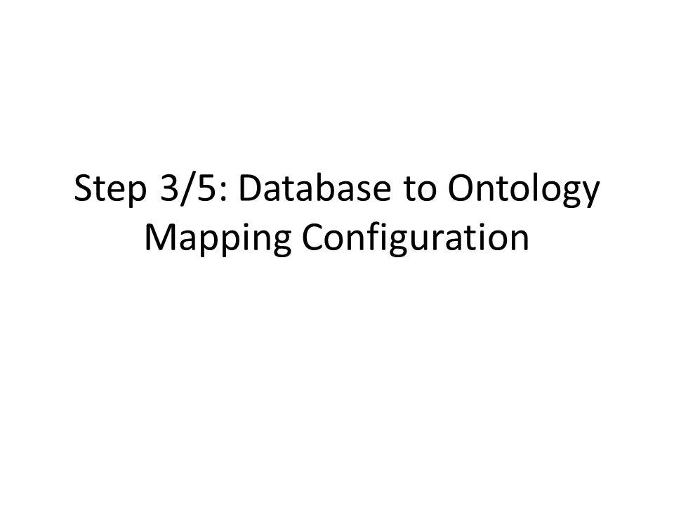 Step 3/5: Database to Ontology Mapping Configuration