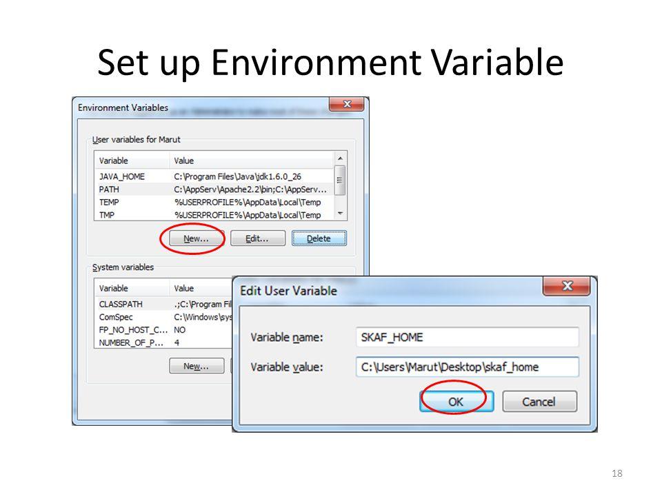Set up Environment Variable 18