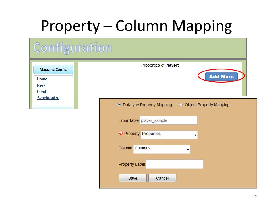 Property – Column Mapping 25