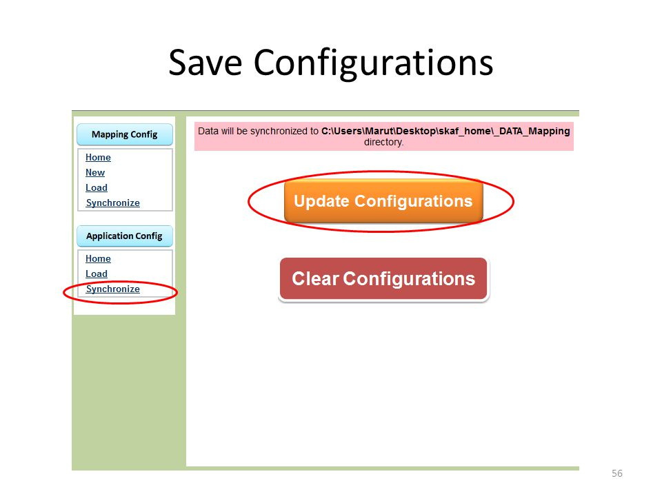 Save Configurations 56