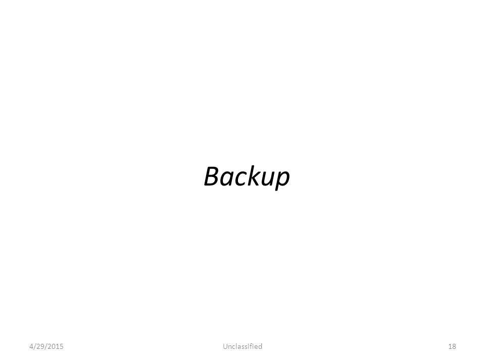 Backup 4/29/2015Unclassified18