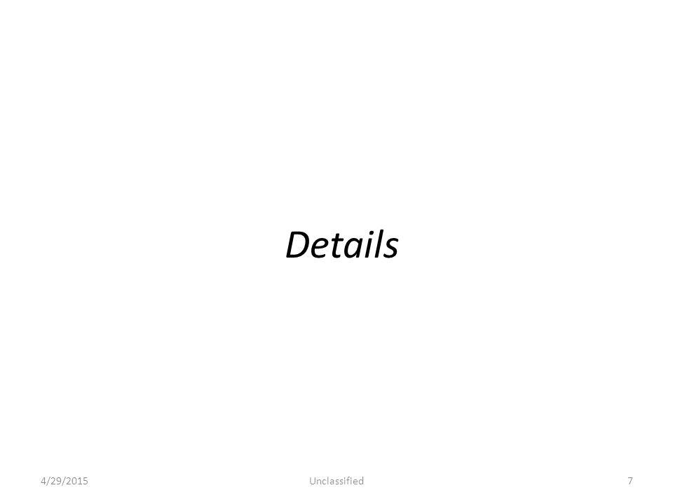 Details 4/29/2015Unclassified7