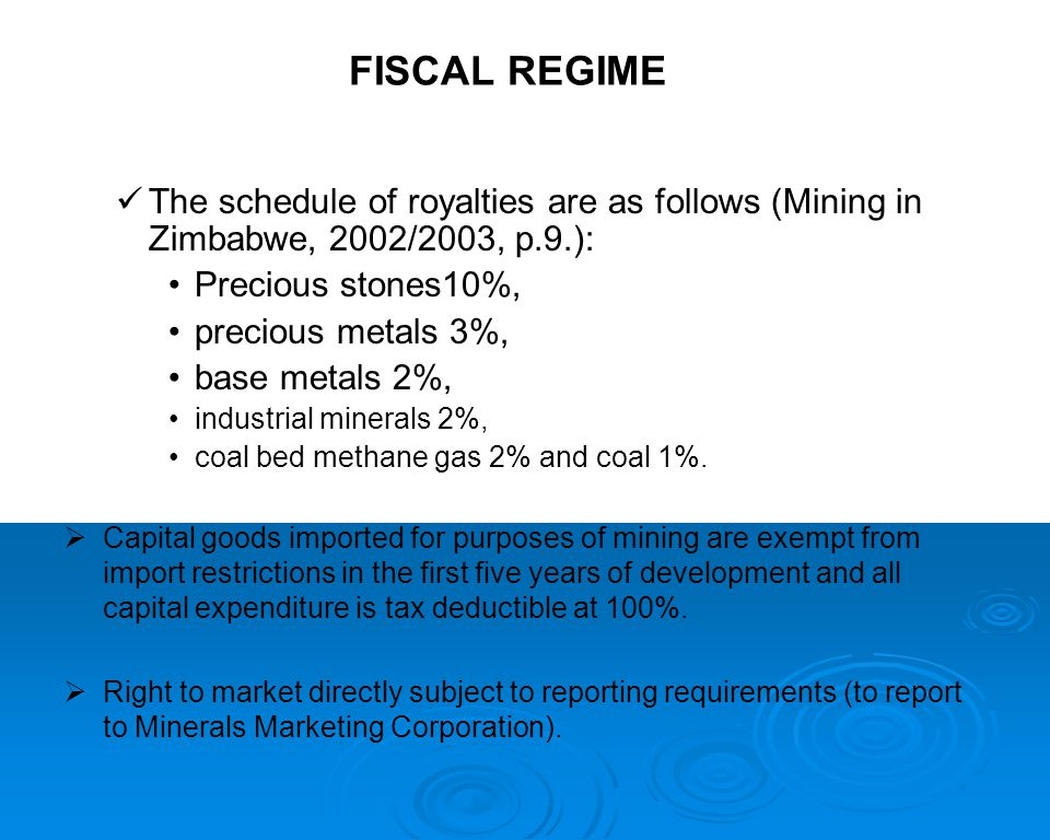  Contribution of mining to the economy (CSO, etc (?).): 4.5% of Gross Domestic Product (GDP) in the 1990s, 4.5% of Gross Domestic Product (GDP) in the 1990s, 4.5% of employment in the same period, 4.5% of employment in the same period, 10.2% of Gross National Investment from 1992 to 1997, and, currently, about 10.2% of Gross National Investment from 1992 to 1997, and, currently, about 40-45% of foreign exchange earnings.