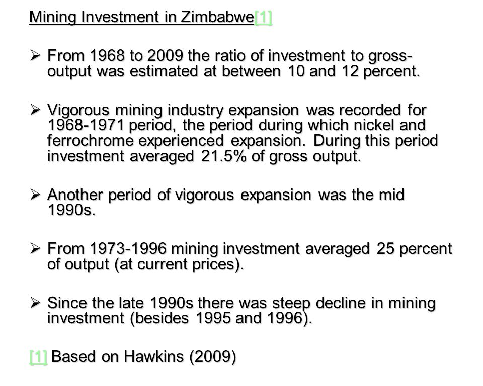 FISCAL REGIME The schedule of royalties are as follows (Mining in Zimbabwe, 2002/2003, p.9.): Precious stones10%, precious metals 3%, base metals 2%, industrial minerals 2%, coal bed methane gas 2% and coal 1%.