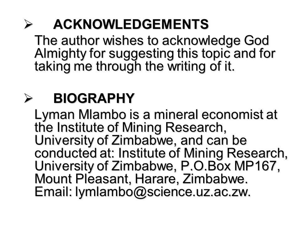  Mining in Zimbabwe Magazine 2002/2003  Mining in Zimbabwe, Prize of Africa Pamphlet  Mlambo, L.