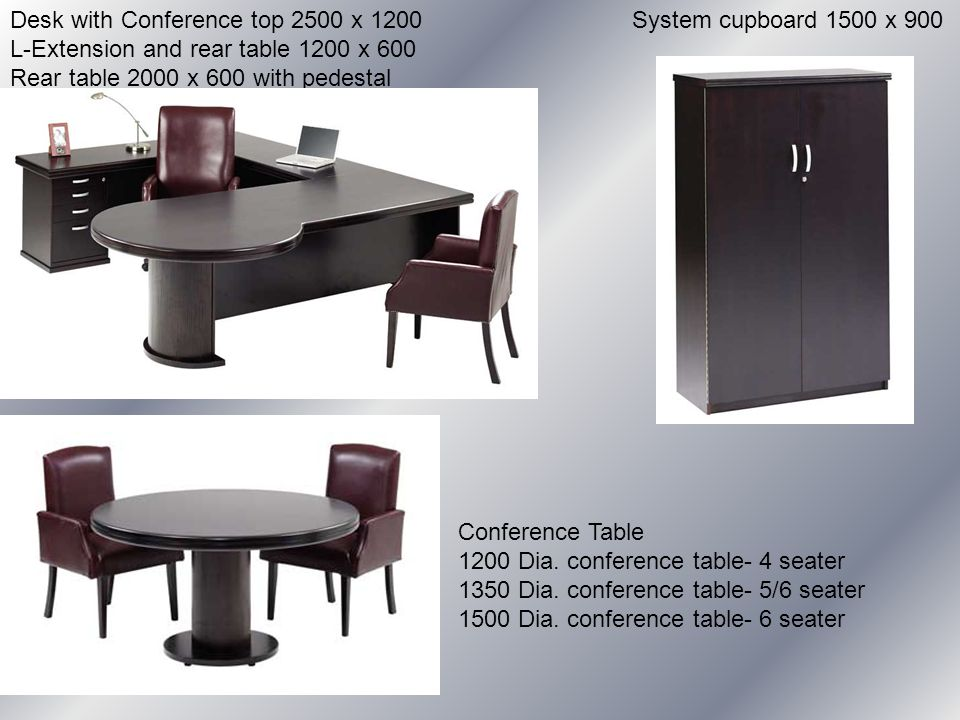 Conference Table 1200 Dia. conference table- 4 seater 1350 Dia.