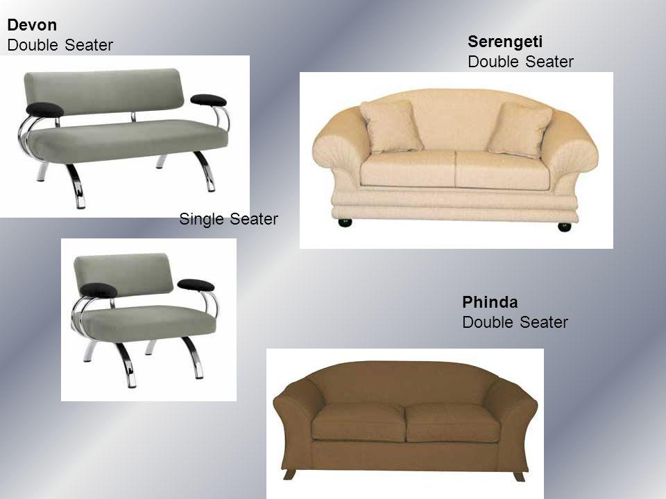 Devon Double Seater Single Seater Serengeti Double Seater Phinda Double Seater