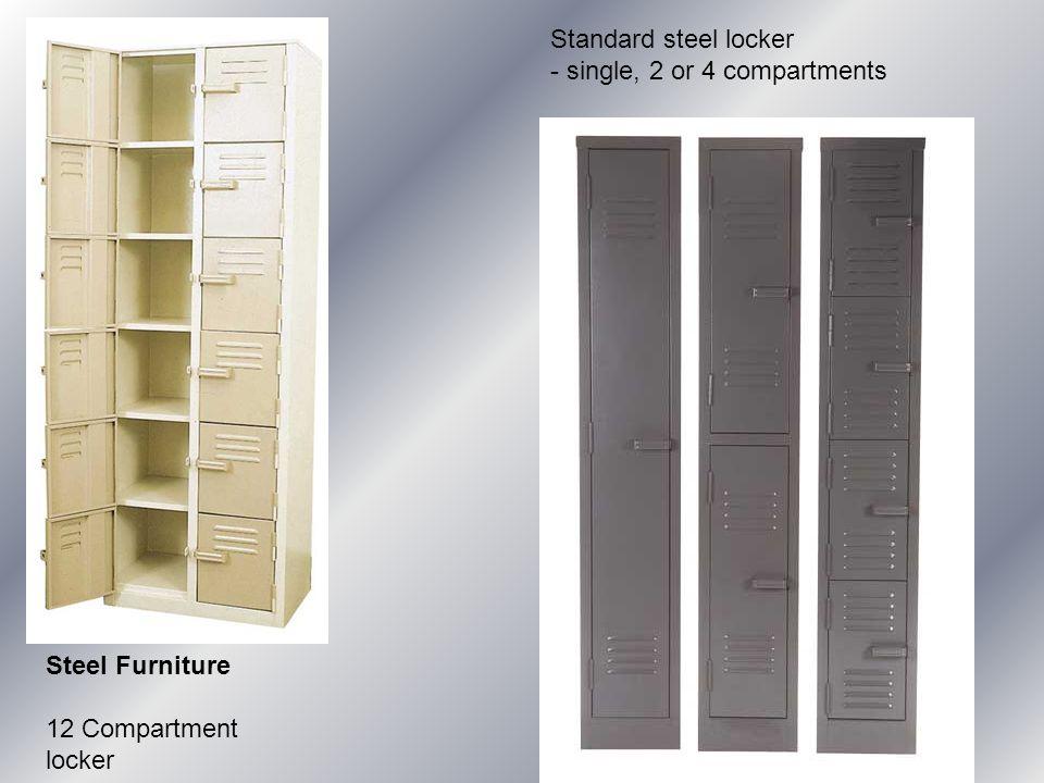 Steel Furniture 12 Compartment locker Standard steel locker - single, 2 or 4 compartments