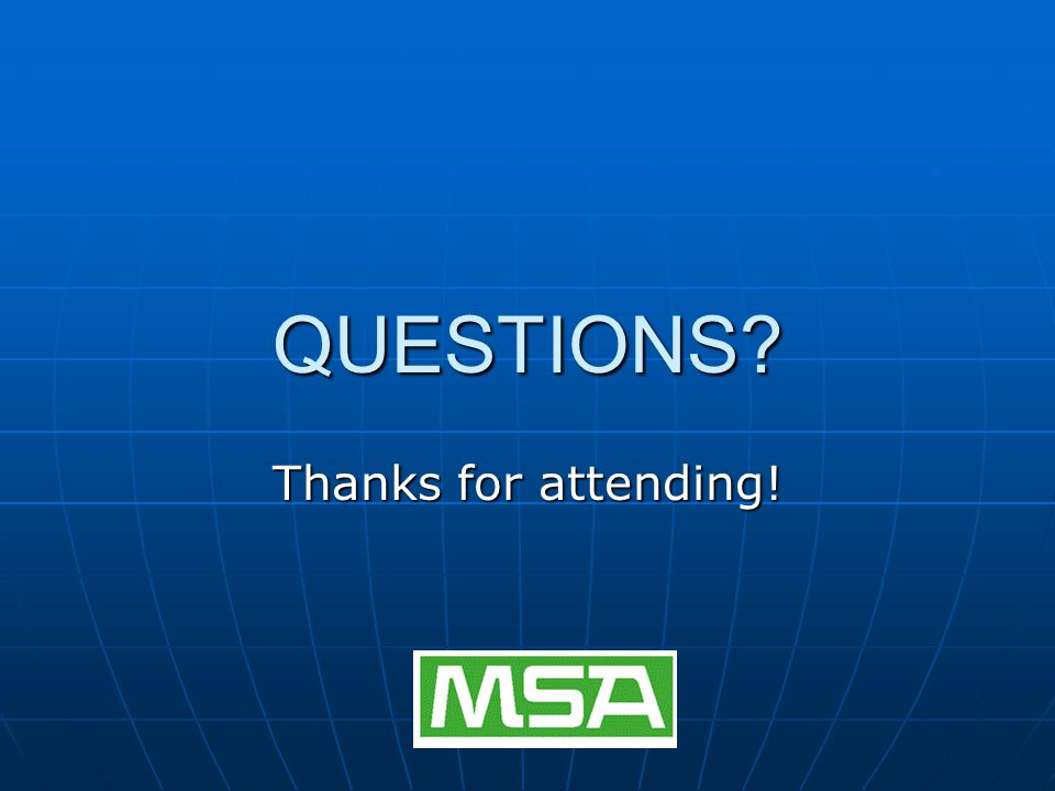QUESTIONS? Thanks for attending!