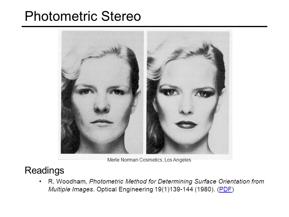 Photometric Stereo Readings R.