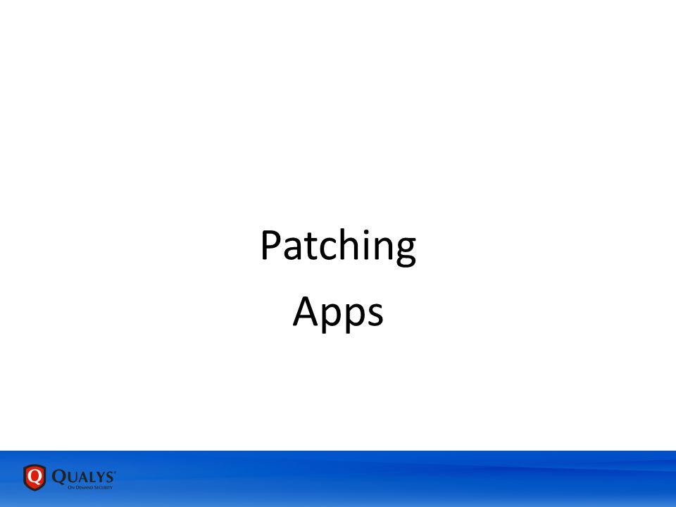 Patching Apps