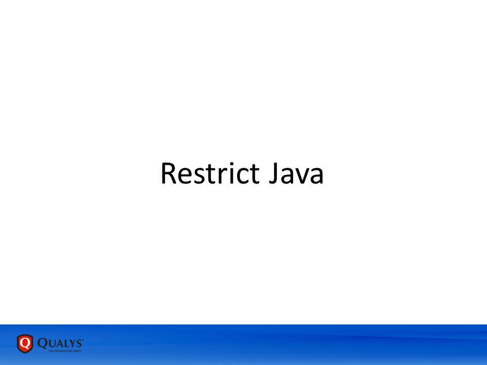 Restrict Java
