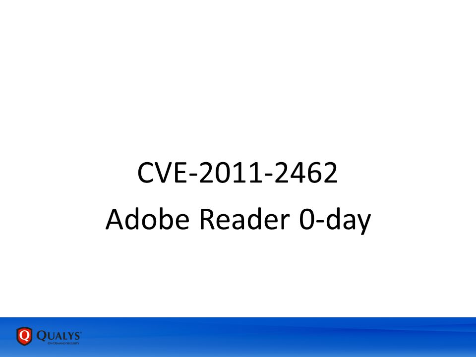 Adobe Reader 0-day