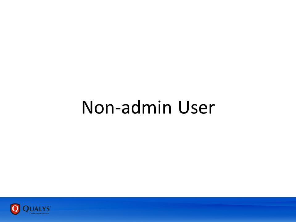 Non-admin User