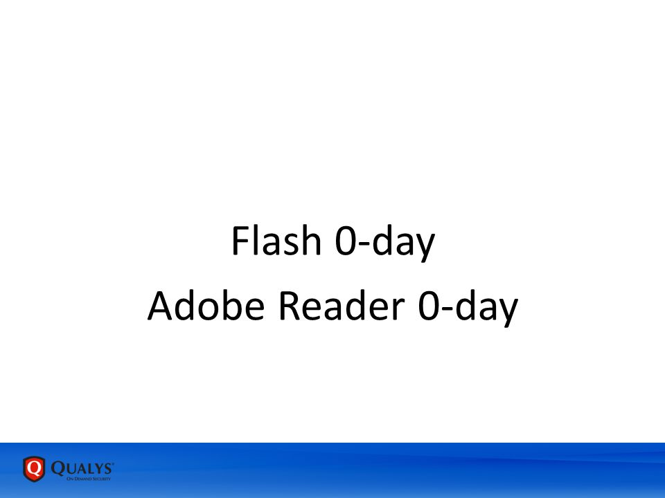 Flash 0-day Adobe Reader 0-day