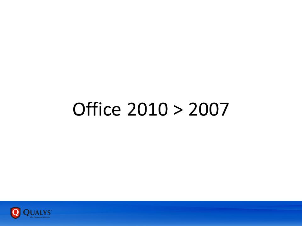 Office 2010 > 2007