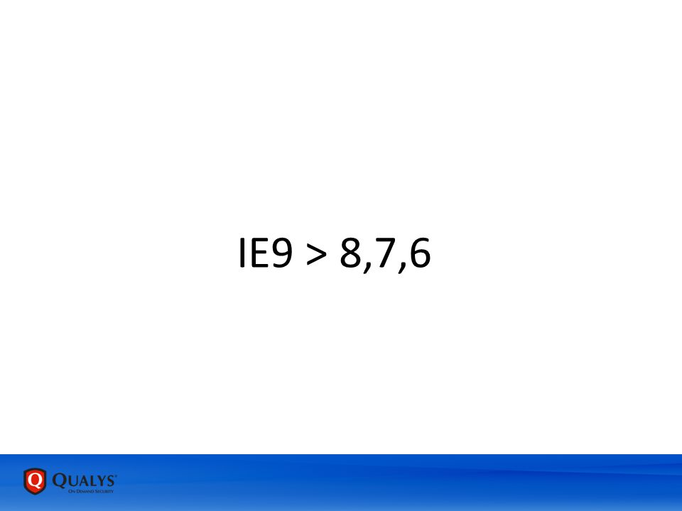 IE9 > 8,7,6
