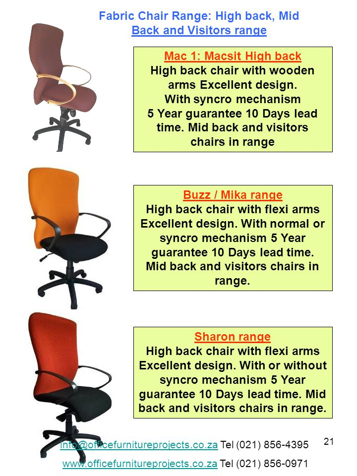 21 Mac 1: Macsit High back High back chair with wooden arms Excellent design.