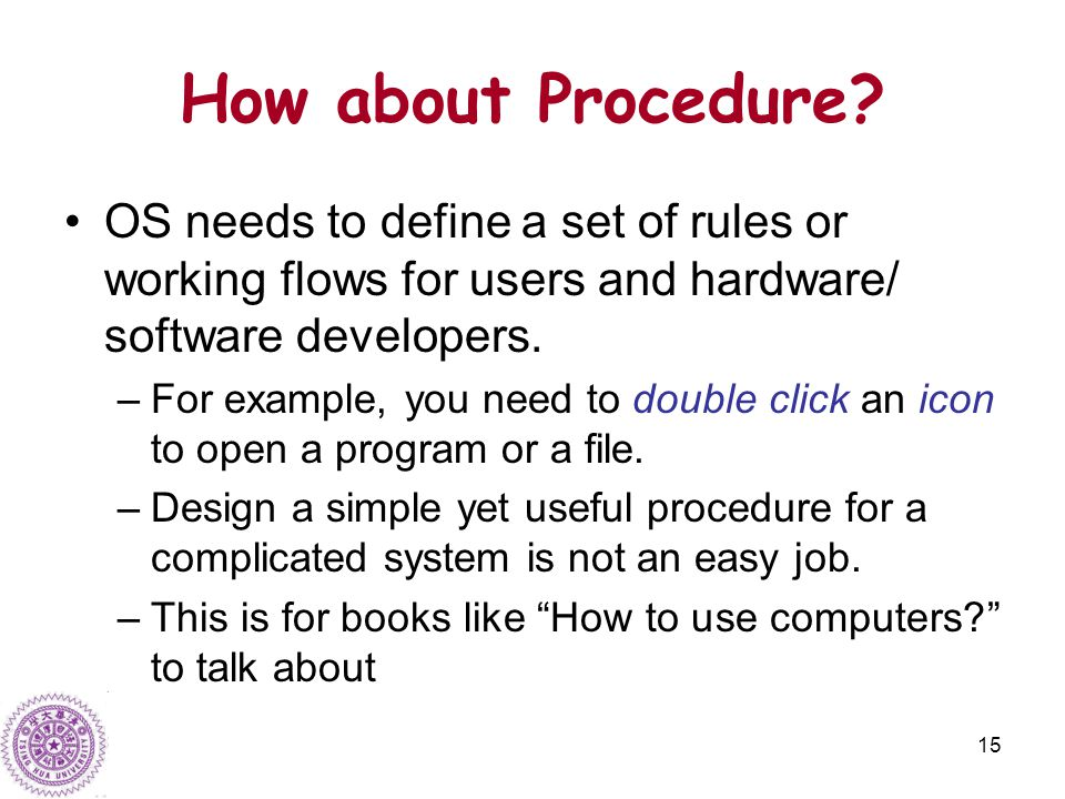 15 How about Procedure.