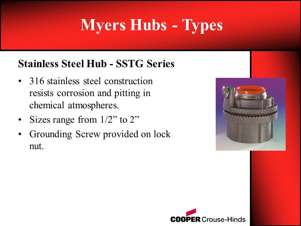 Myers Hubs - Types Through Bulk-Head Fitting - STTB, STTBA, STTTB, STTTBA Series.
