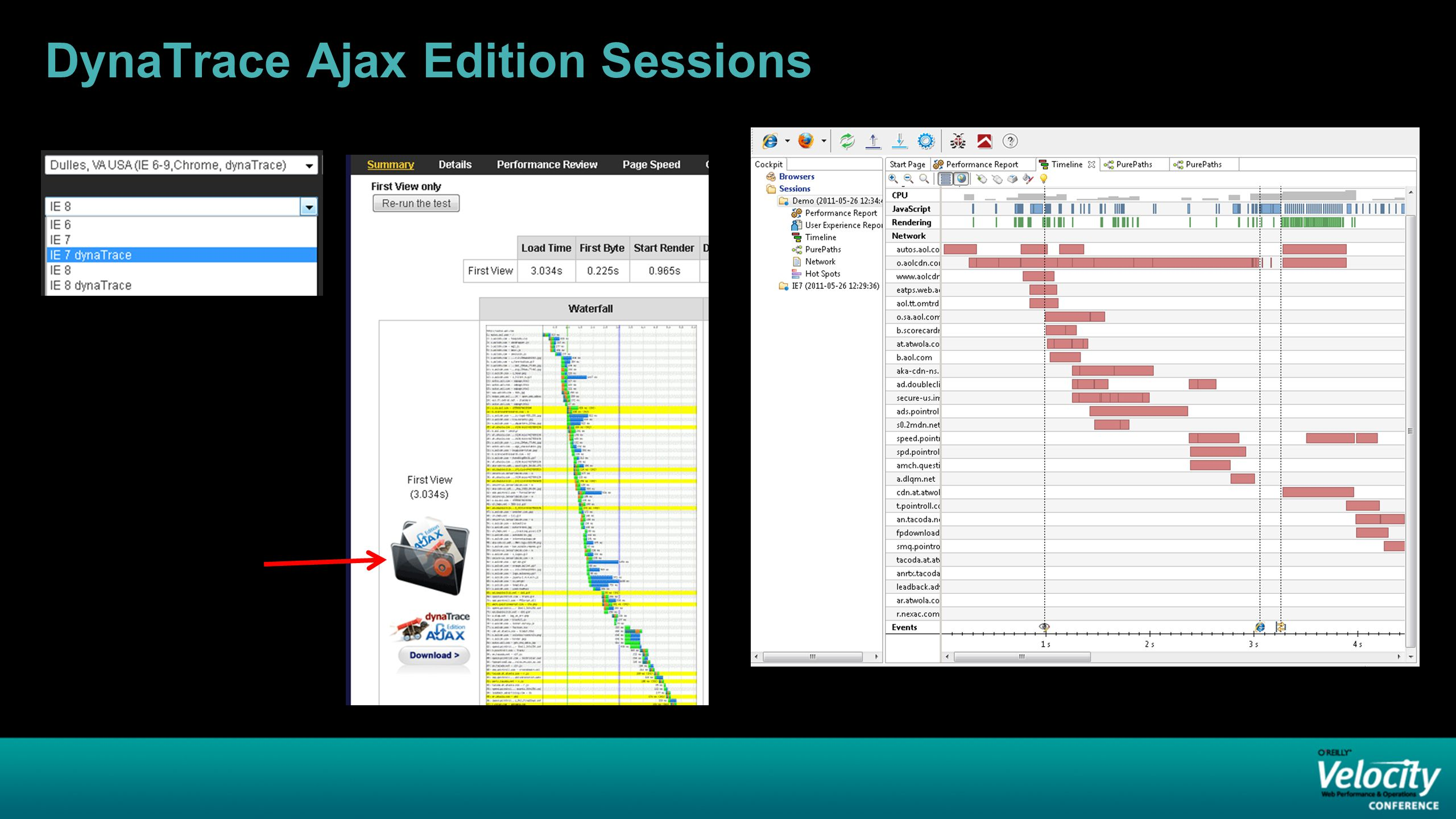 DynaTrace Ajax Edition Sessions