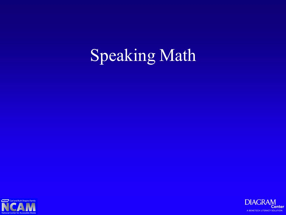 Speaking Math
