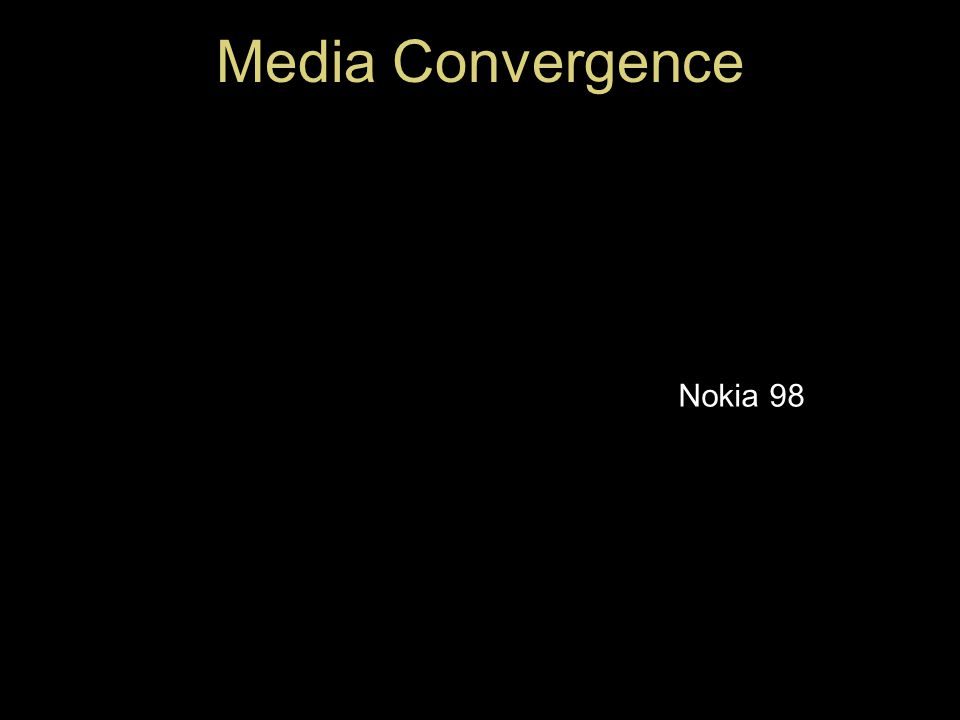 Media Convergence Nokia 98