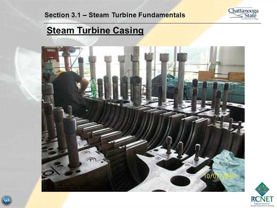 11 Section 3.1 – Steam Turbine Fundamentals Steam Turbine Casing