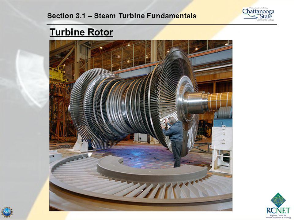 12 Section 3.1 – Steam Turbine Fundamentals Turbine Rotor