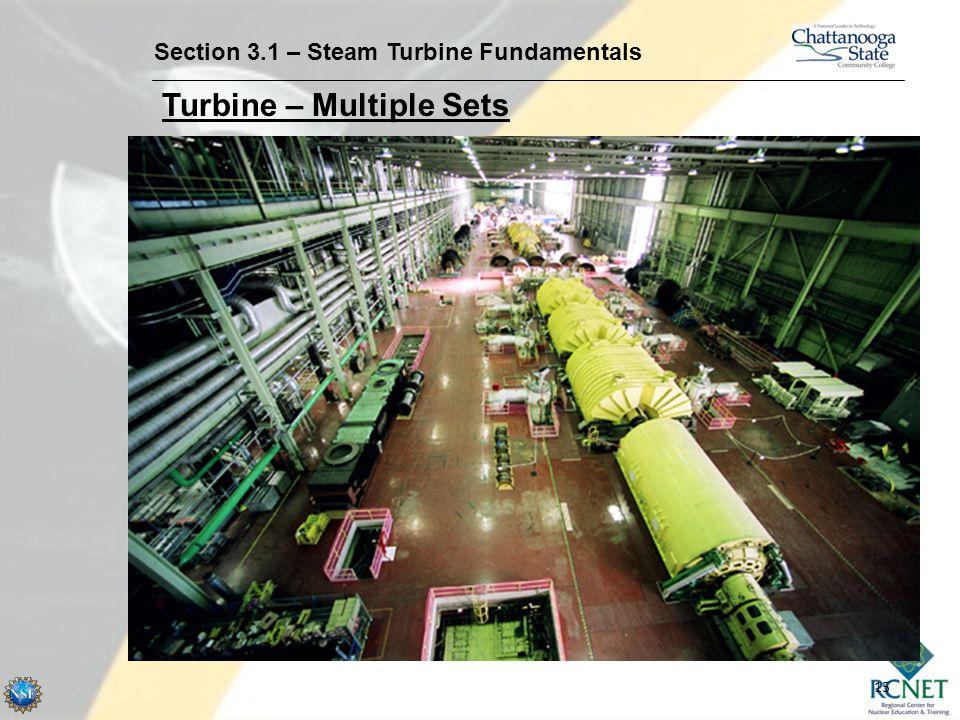 15 Section 3.1 – Steam Turbine Fundamentals Turbine – Multiple Sets