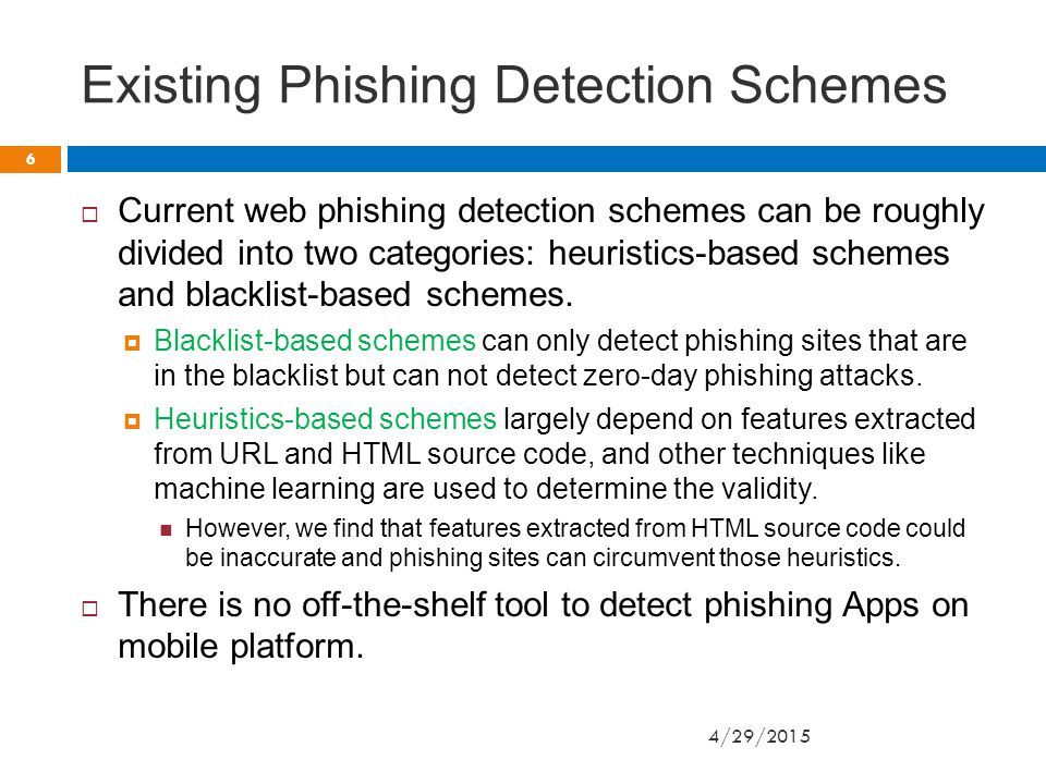 Design of AppFish Cont. Phishing apps are not able to load valid following pages.