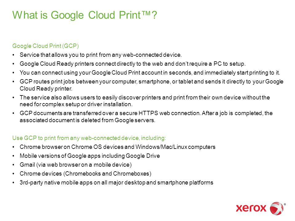 What is Google Cloud Print™.