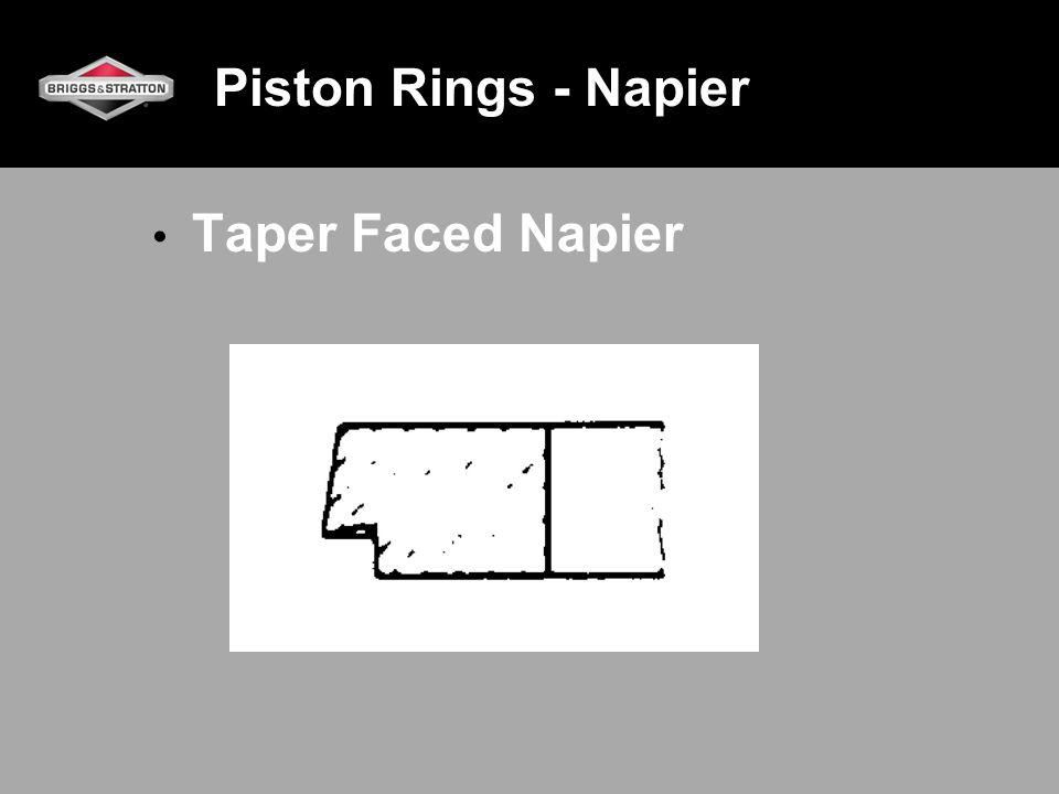 Piston Rings - Napier Taper Faced Napier