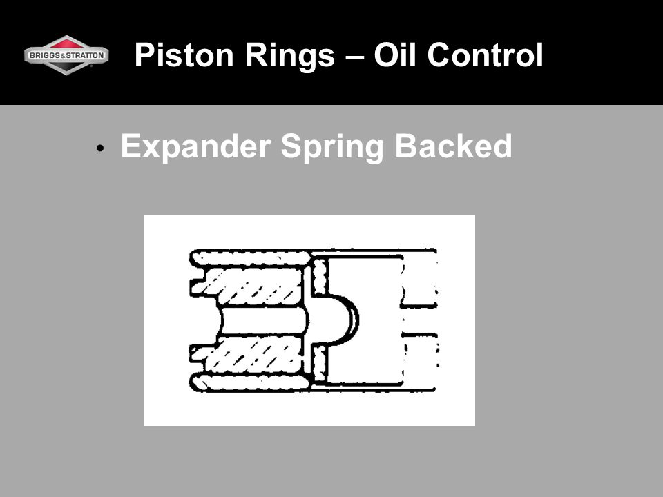 Piston Rings – Oil Control Expander Spring Backed