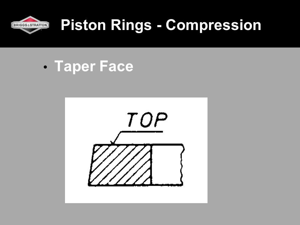 Piston Rings - Compression Taper Face