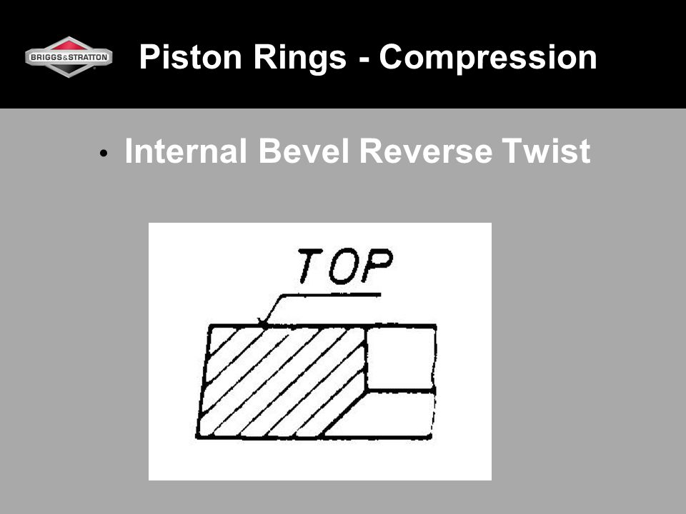 Piston Rings - Compression Internal Bevel Reverse Twist