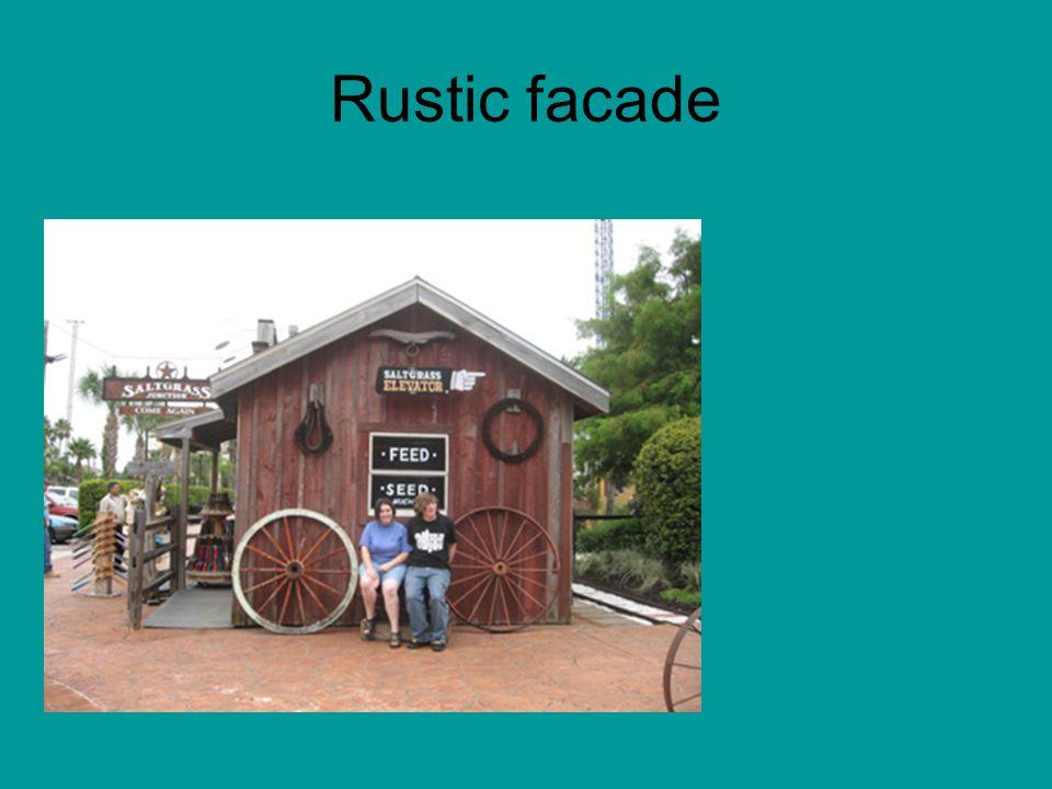 Rustic facade