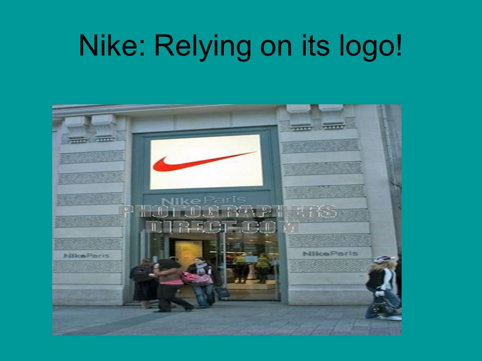 Nike: Relying on its logo!
