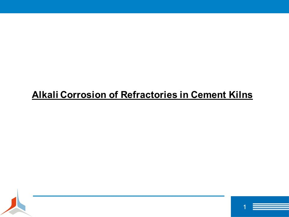 2 Alkali Corrosion Topics 1.Introduction to alkali corrosion of refractories 2.Characterization of corroded industrial refractory materials 3.Behavior of alkali salts and alkali salt mixtures 4.Mechanisms of alkali corrosion 5.Investigation methods 6.Conclusions