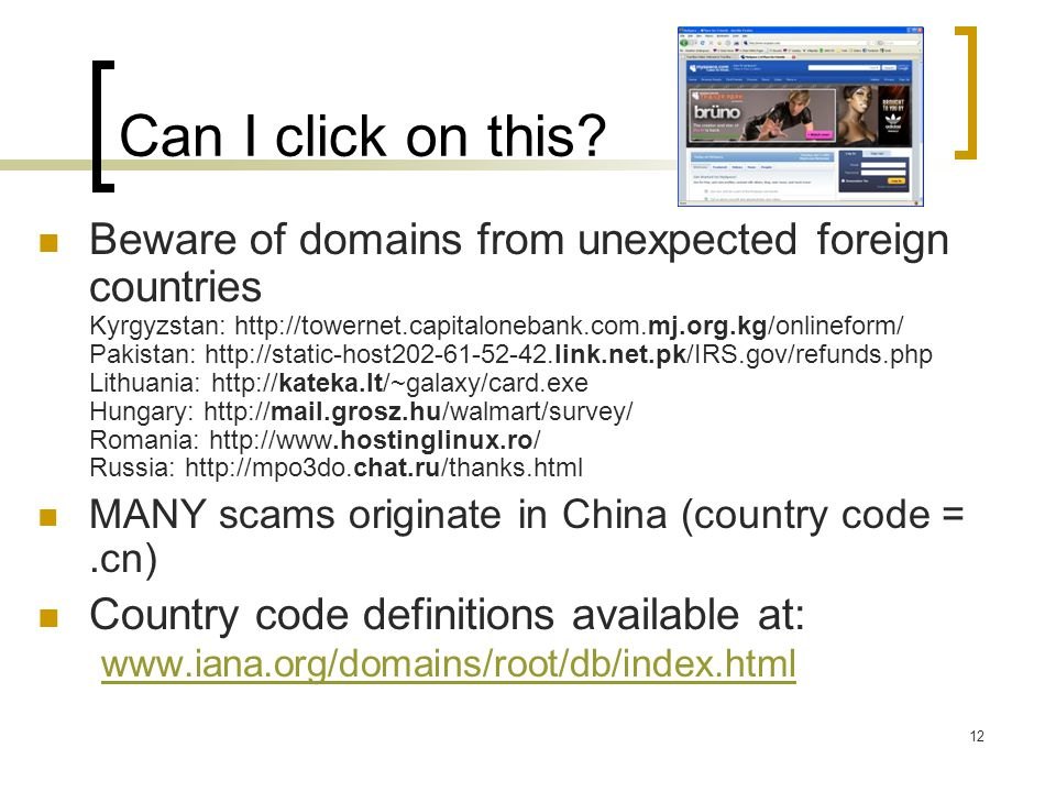 Can I click on this? Beware of domains from unexpected foreign countries Kyrgyzstan: http://towernet.capitalonebank.com.mj.org.kg/onlineform/ Pakistan