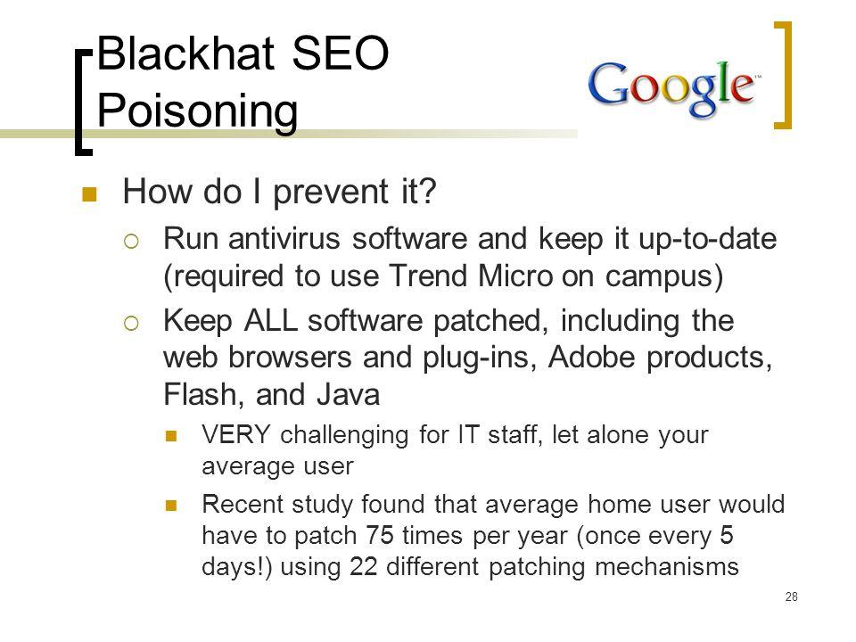 Blackhat SEO Poisoning How do I prevent it.