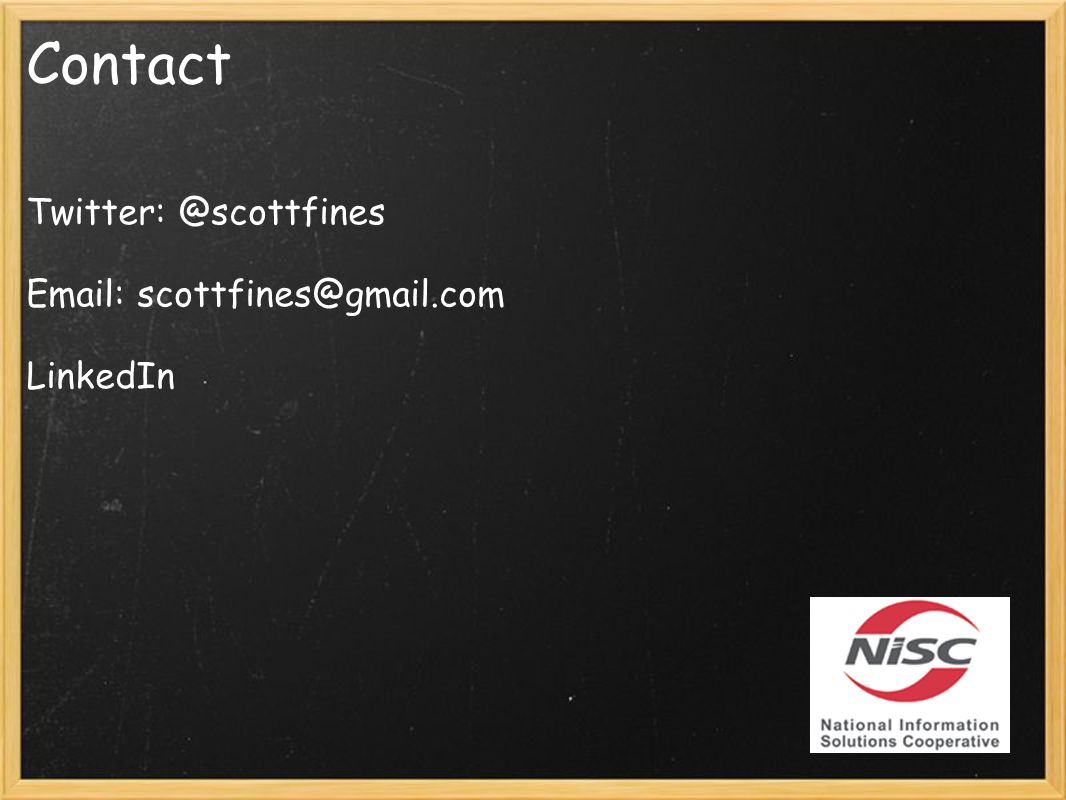 Contact Twitter: @scottfines Email: scottfines@gmail.com LinkedIn