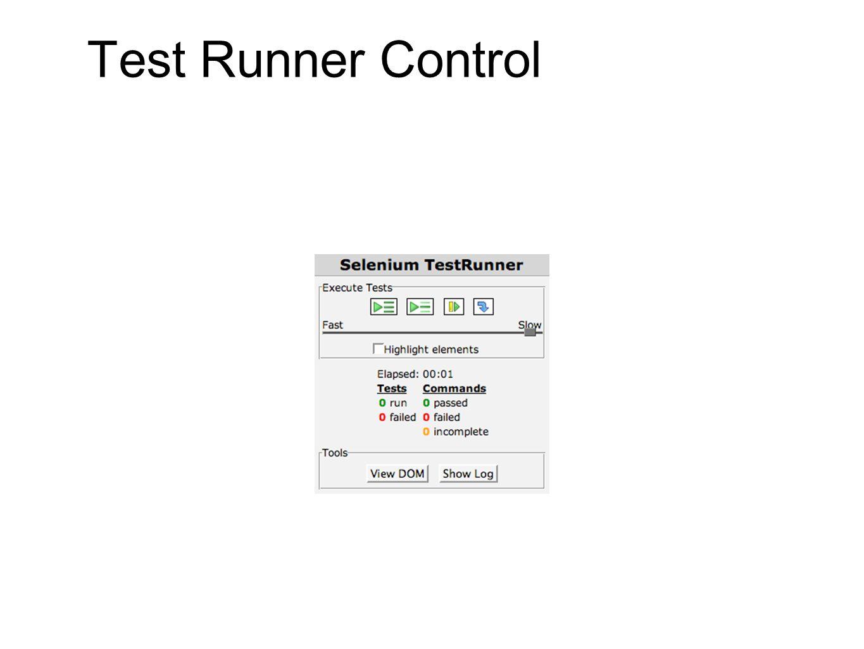 Test Runner Control