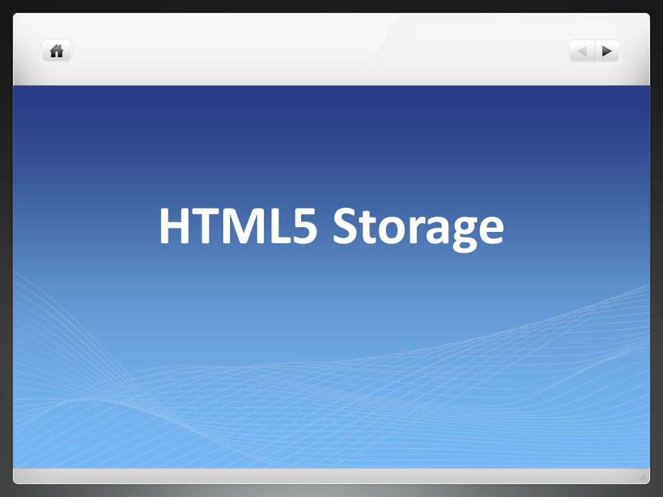 Why Local Storage.