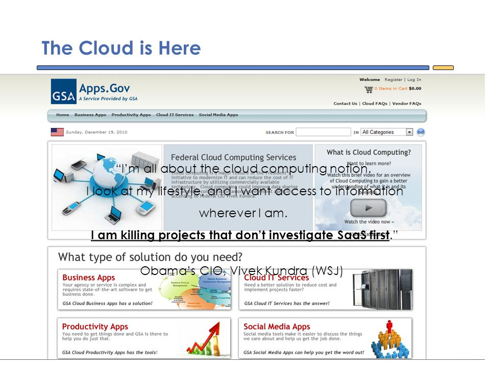 I'm all about the cloud computing notion.